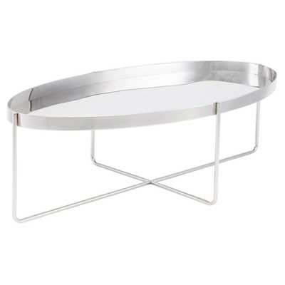 Nuevo Gaultier Coffee Table, Silver - High Fashion Home