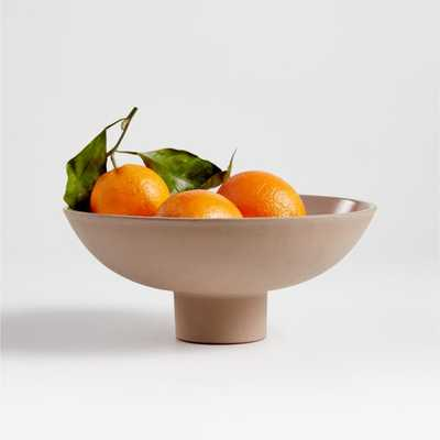 Craft Shop Clay Footed Bowl - Crate and Barrel