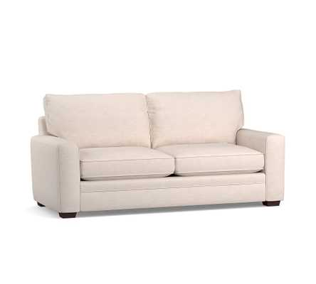 """Pearce Square Arm Upholstered Sofa 72"""", Down Blend Wrapped Cushions, Jumbo Basketweave Ivory - Pottery Barn"""