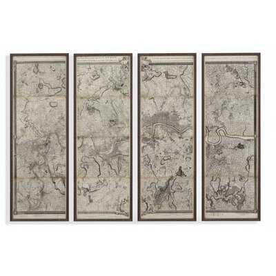 Map of London - 4 Piece Picture Frame Graphic Art Print Set on Paper - Wayfair