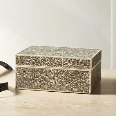 Resin Shagreen Jewelry Box - CB2