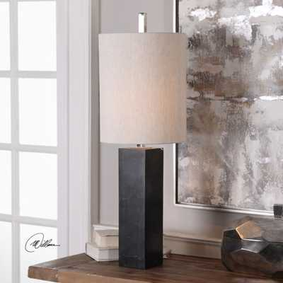 Delaney Marble Column Accent Lamp - Hudsonhill Foundry