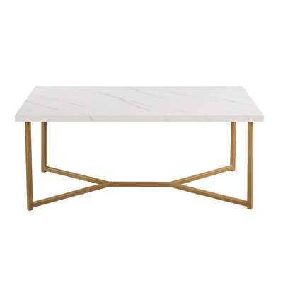 Lamendola Cross Legs Coffee Table - Wayfair