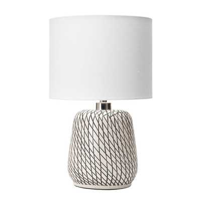 nuLOOM 25 in. Beige Hope Glass Indoor Table Lamp - Home Depot