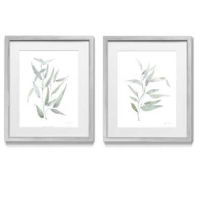 Ethereal Eucalyptus I - 2 Piece Picture Frame Graphic Art Print Set on Paper - Wayfair