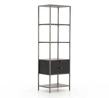 Graham Bookcase, Black Wash - Pottery Barn