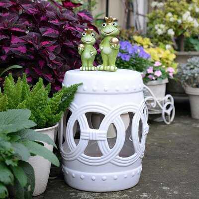 Harwich Ceramic Knotted Rings Garden Stool - Wayfair