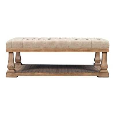 Upholstered Storage Bench With Wood Shelf, Bed End Bench With Padded Seat, Coffee Table,End Table, Hallway, Bedroom, Living Room - Wayfair
