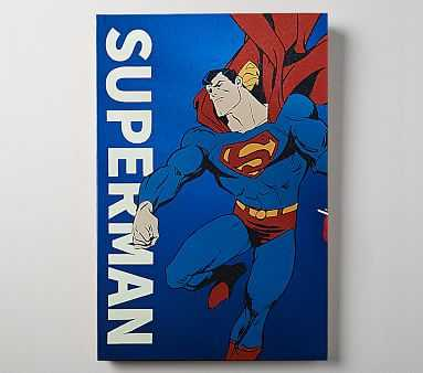 DC Comics Glow In The Dark Art, Superman - Pottery Barn Kids