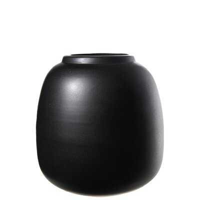 "Black 7"" Ceramic Table Vase - Wayfair"