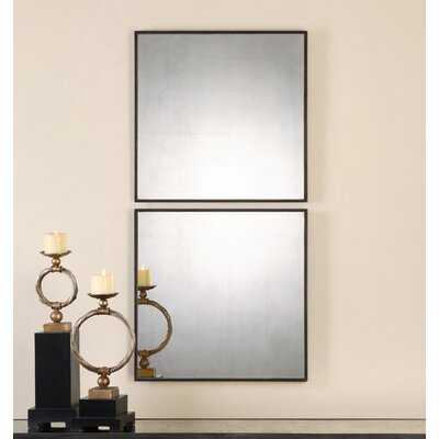 2 Piece Trinidad Modern and Contemporary Mirror Set (Set of 2) - Wayfair