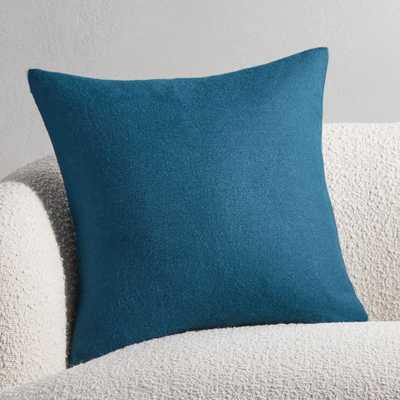 "20"" Alpaca Teal Pillow with Down-Alternative Insert - CB2"