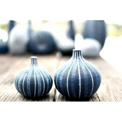 2 Piece Ashe Blue Porcelain Table Vase Set - Wayfair
