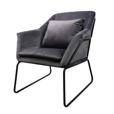 "Clermonte 31"" Velvet Lounge Chair - Wayfair"