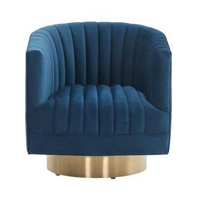 Tetrault Josephine Swivel Barrel Chair - Wayfair