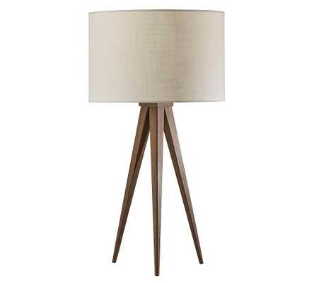 Axson Wood Table Lamp, Rosewood - Pottery Barn