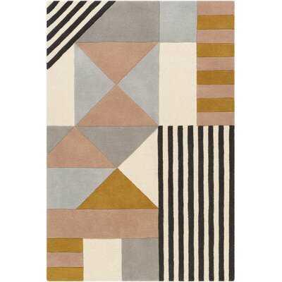 Yountville Hand-Tufted Wool Cream/Light Gray/Brown Rug - Wayfair