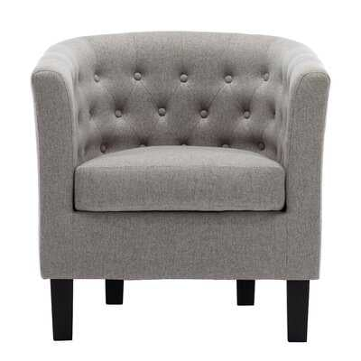 "Alwillie 28.74"" W Tufted back Barrel Chair - Wayfair"
