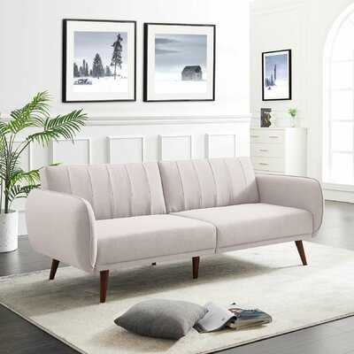 "Riccio 85.43"" Wide Square Arm Sofa Bed - Wayfair"