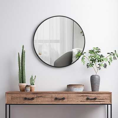 Neu-Type Modern/Elegant Round Hanging/Wall Mounted Bathroom Vanity Mirror - Home Depot