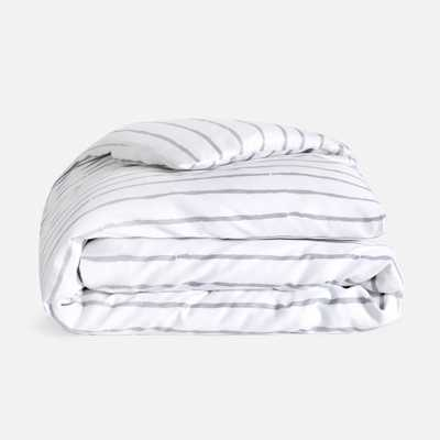 Toddler Bed Set: Duvet Cover - Fog Stripe - Brooklinen