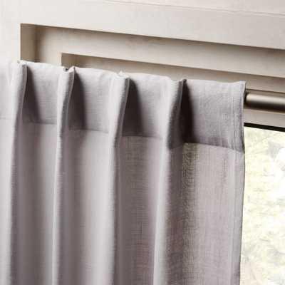 "Heavyweight Silver Grey Linen Curtain Panel 48""x108"" - CB2"