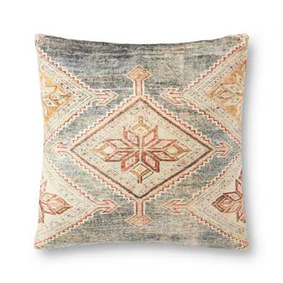 "PILLOWS P0906 GREY / MULTI 22"" x 22"" Cover Only - Loma Threads"