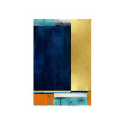 "Chelsea Art Studio 'Chromatic Composition I' Graphic Art Print Format: Gild Gold, Size: 60"" H x 40"" W - Perigold"