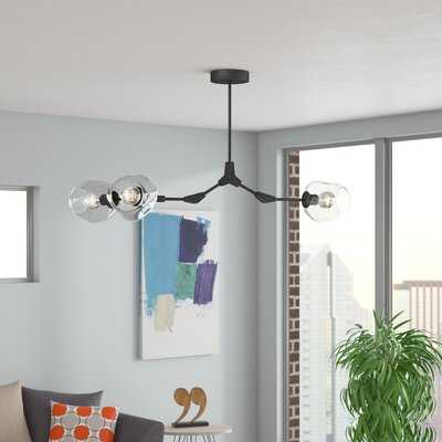Jameown 3-Light Sputnik Modern Linear Chandelier - Wayfair
