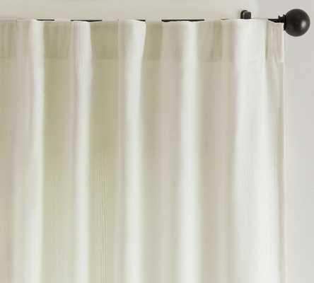 "Gramercy Rod Pocket Blackout Curtain, Set of 2, 50 x 96"", Classic Ivory - Pottery Barn"
