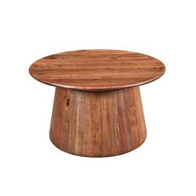 Sammie Solid Wood Pedestal Coffee Table - Wayfair