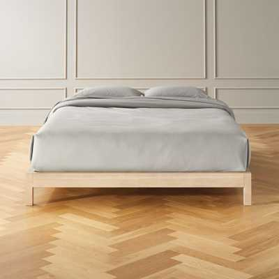 Simple Whitewash Bed Base Queen - CB2