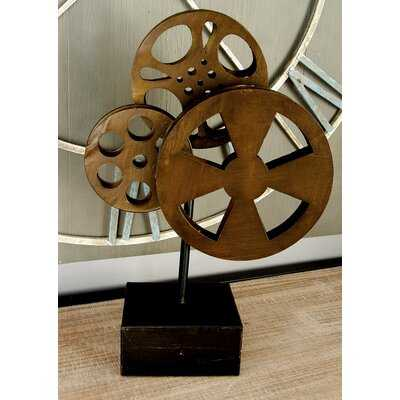 Markieff 3 Bronze Metal Movie Reels Table Decor - Wayfair