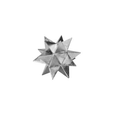 """Worlds Away Cosmo Star Sculpture Size:7"""" H x 7"""" W x 7"""" D, Color: Silver - Perigold"""