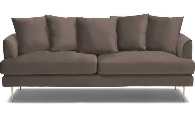 Brown Aime Mid Century Modern Sofa - Dawson Brindle - Joybird