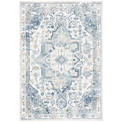 Dewberry Oriental Navy Area Rug - Wayfair