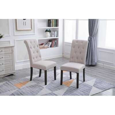 Noble And Elegant Solid Wood Tufted Dining Chair (Set Of 2) - Wayfair