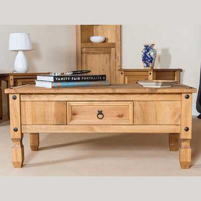 Laurinda Solid Wood Coffee Table with Storage - Wayfair
