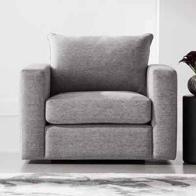 Forever Grey Swivel Armchair - CB2