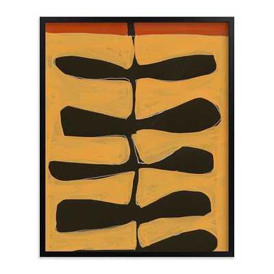 "Leaves and a Stem No. 2, 16""x20"", Black Wood Frame - West Elm"