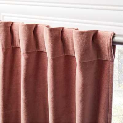 "Velvet Dusty Orchid Curtain Panel 48""x108"" - CB2"