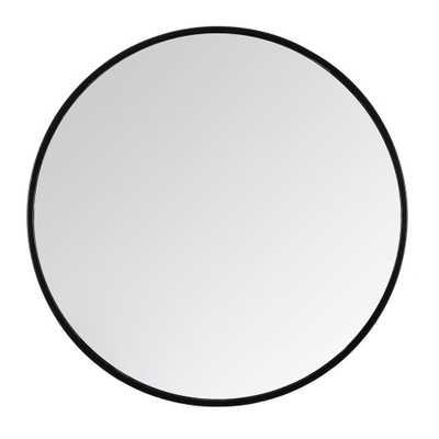 "Madeleine Home Tivoli Black Contemporary Handcrafted Wall Mirror - Round (28"") - Home Depot"