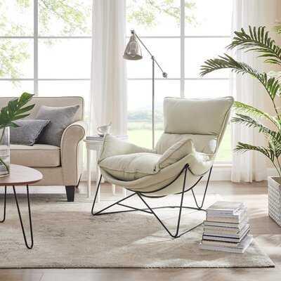 "Nuha 34.65"" W Faux Leather Lounge Chair - Wayfair"