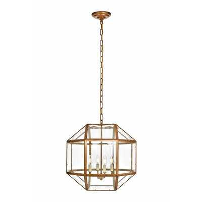 Burkeville 4-Light Candle Style Geometric Chandelier - Birch Lane