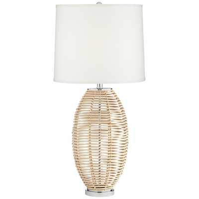 Knoll Natural Rattan Basket Table Lamp - Style # 77P00 - Lamps Plus