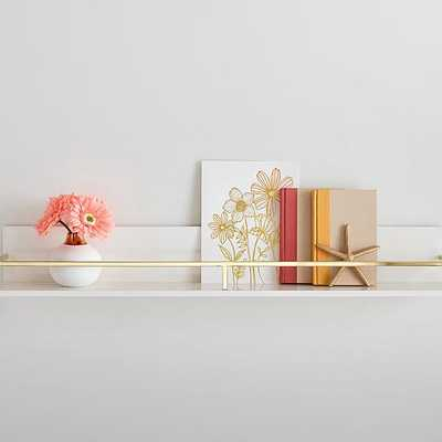 Polished Shelf, 3Ft, White and Gold - West Elm