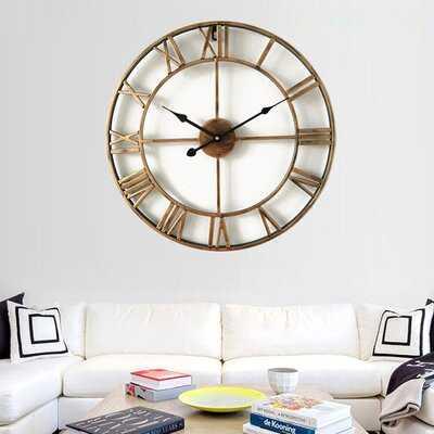 Oversized Paden 24'' Wall Clock - Wayfair