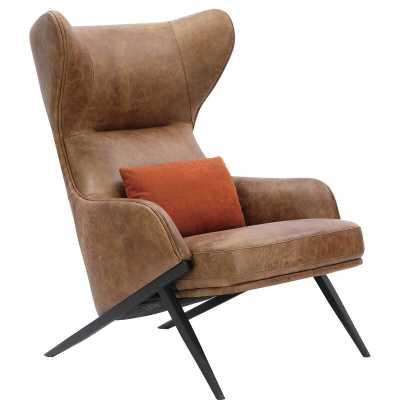 Moe's Home Collection Amos Leather Accent Chair - Perigold