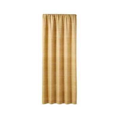 "Silvana Yellow Silk Curtain Panel 48""x96"" - Crate and Barrel"
