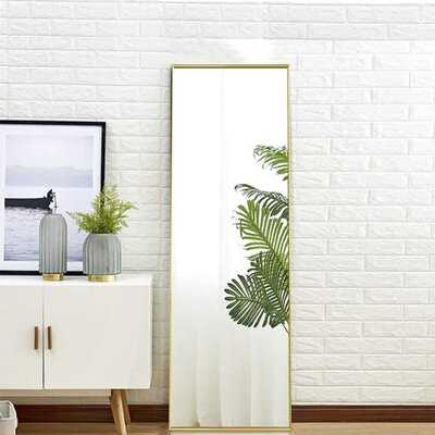 Aluminum Alloy Frame Hanging mirror, Free Standing mirror, and Leaning Full Length Mirror - Wayfair